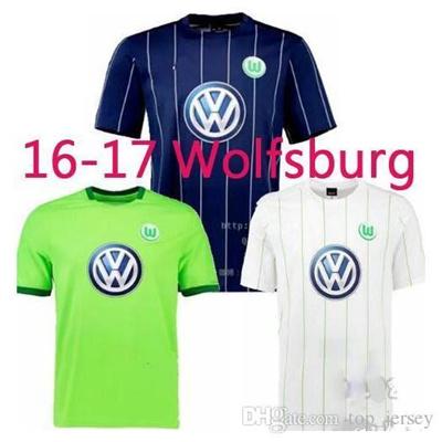 sports shoes f0d68 9045f New Wolfsburg jersey Best Quality 2016 2017 Home away soccer shirts 16 17  camiseta de foot fC custom