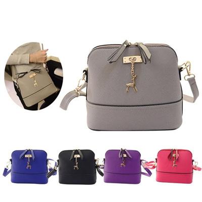 bd20f6fe56f5 Qoo10 - New Women Messenger Bags Vintage Small Shell Leather Handbag ...