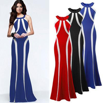 39f2664eb3 New women skirt solid colors stripe skirt party dress off-the-shoulder dress  skirt