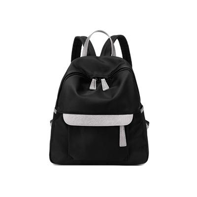 b8ab405d058 Qoo10 - New Women Small Nylon Backpack Leather Zipper Casual Waterproof  School...   Women s Clothing