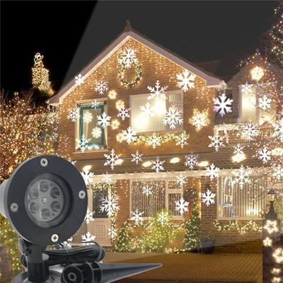 Christmas Projector.New Year Christmas Projector Snow Lamps Snowflake Led Stage Light For Party Landscape Light Garden L