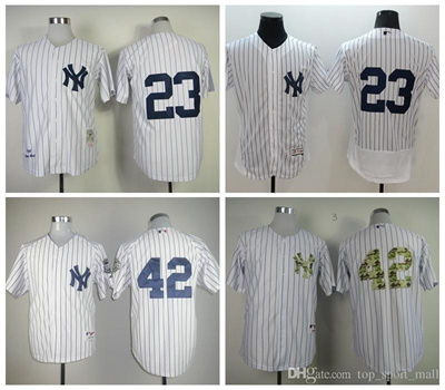 new arrival 400d1 fa030 New York Yankees 23 Don Mattingly Jersey 1961 Cooperstown 42 Mariano Rivera  Baseball Jerseys Throwba