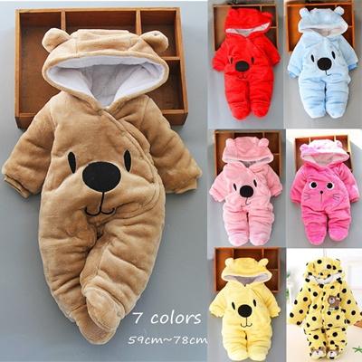 1321834be Qoo10 - Newborn Baby Boy Clothing Fleece Winter Romper Cartoon Infant Babies  C... : Kids Fashion