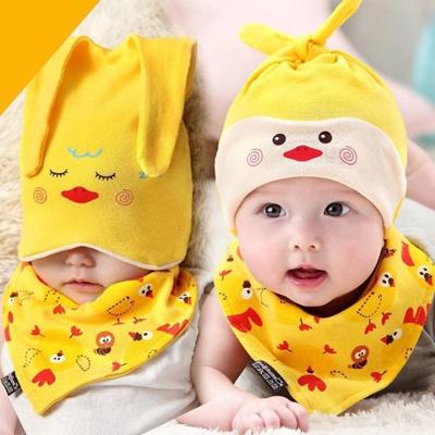 a8d5e7b46df2 Qoo10 - Newborn Baby Infant Boys Girls Sleep Hat Cap+Saliva Towel ...