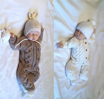 bdce7fa8b04b Qoo10 - Newborn Baby Kids Warm Knitted Cotton Long Sleeve Sweaters ...