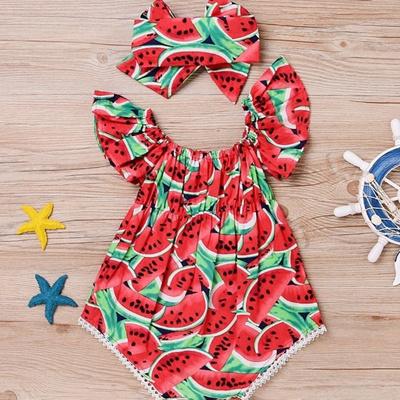 1b39895d60ec Qoo10 - Newborn Toddler Baby Girl Watermelon Romper Clothes Jumpsuit  Bodysuit ...   Bag   Wallet