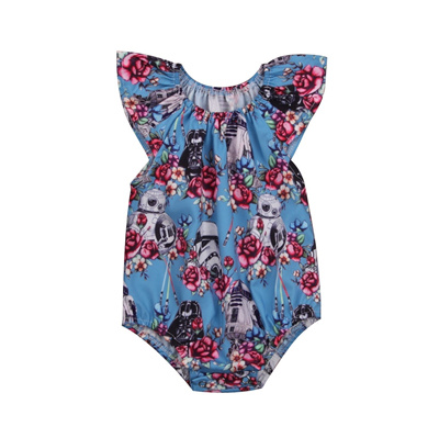 d51df92f093 Qoo10 - Newborn Toddler Baby Girls Cute Floral Romper Jumpsuit Bodysuit  Outfit...   Kids Fashion