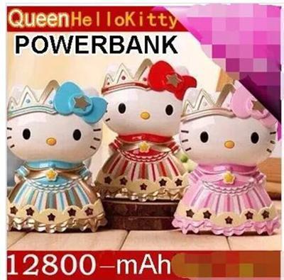 Qoo10 - Newest Queen Hello Kitty Cartoon powerbank 12800mah Full Capacity  USB ...   Smartphone   Tab. 441377d489b32