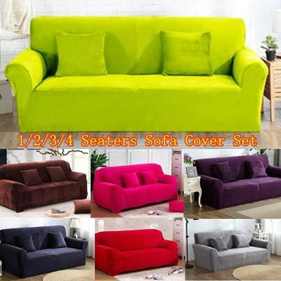 Qoo10 Newest Thick Plush Non Slip Sofa Cover Set Home 1 2 3 4