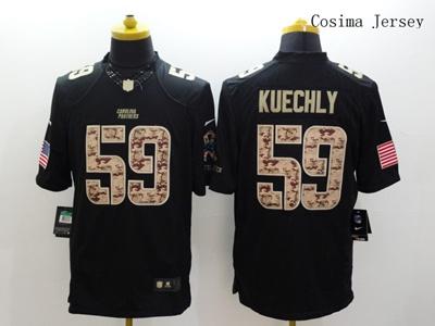 online store 315df b6e01 NFL JerseyMens Carolina Panthers #59 Luke Kuechly Black Salute to Service  Limited Jersey