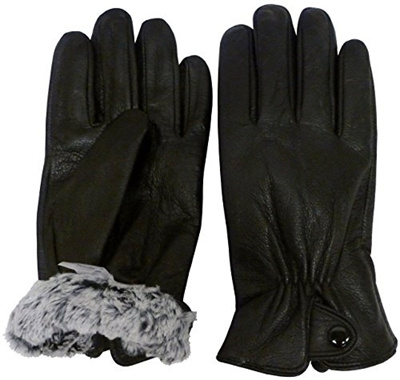 1b760c297f20a Qoo10 - NIce Caps Womens and Mens Genuine Kid Leather Gloves With Plush  Lining   Men s Bags   Shoes