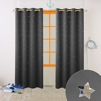 Nicetown Naptime Essential Nursery Window Curtains For Kid S Room Blackout Curtain Panel With Di