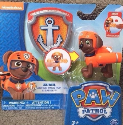 Nickelodeon Paw Patrol ZUMA ACTION PACK PUP U0026 BADGE Easter Basket Gift Idea