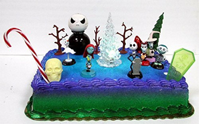 Qoo10 Nightmare Before Christmas 17 Piece Birthday Cake Topper Set
