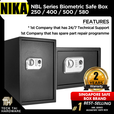 NikaNIKA NBL Series Biometric Safe Box 250 / 400 / 500 / 580 / (24 Hours  Technical Support)