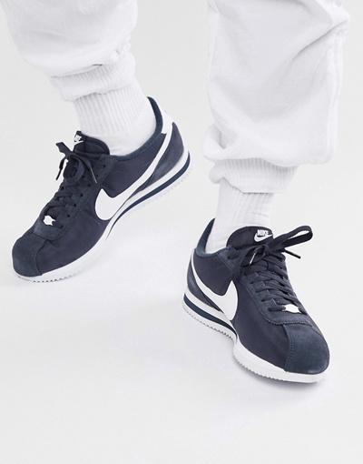 best website 027e3 d4139 NIKE나이키 Nike Cortez Nylon Trainers In Blue 819720-411
