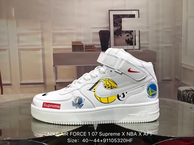 super popular b5f9d 17bbc NIKE AIR FORCE 1 07 Supreme X NBA X AF1 Low-top mens and womens shoes