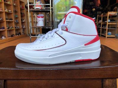 the latest 95d91 452f9 Jordan 2 II Retro White Black Varsity Red 395718-102