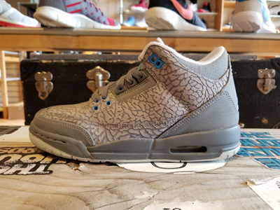 f806d82662a Qoo10 - Jordan 3 Retro III GS Flip Cool Grey Blue Glow 441140-015 ...