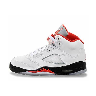0c6f93dad338 Qoo10 - Jordan V 5 Retro White Fire Red-Black Fire Red 440888-100 ...