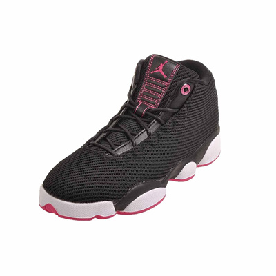 san francisco 67c99 9432a NIKE Jordans Girls Jordan Horizon Low Walking Shoes Black/Vivid Pink-White