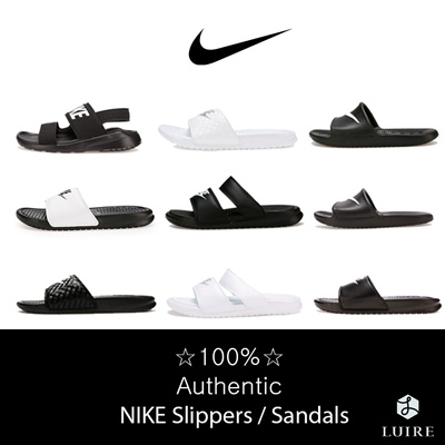 a5244a3f5b9 [NIKE] [ADIDAS] 23 Type Slippers / Sandals / 100% Authentic