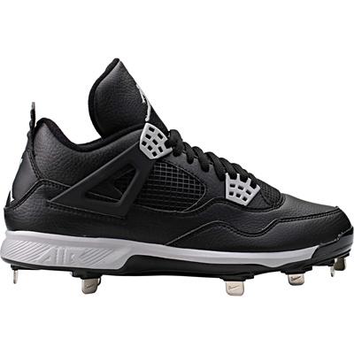 Nike NIKE AIR JORDAN 4 OREO RETRO Baseball Metal Spike  807710  BLACK US 8.5 b794e15a883cb