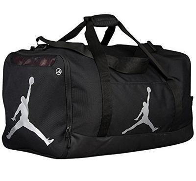 NIKE Nike Air Jordan Jumpman Duffel Sports Gym Bag Black Silver 8A1913