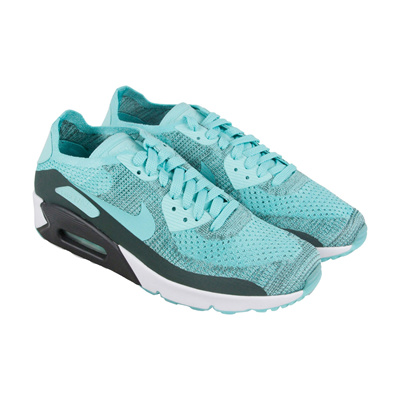 newest 0a3cc 0f423 NIKENike Air Max 90 Ultra 2.0 Flyknit Mens Blue Textile Athletic Running  Shoes