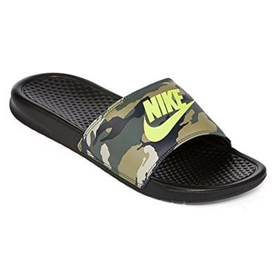 df474ee64df3 Qoo10 - NIKE Nike Mens Benassi JDI Print Sandal Black Volt Size 11 M US    Men s Bags   Shoes