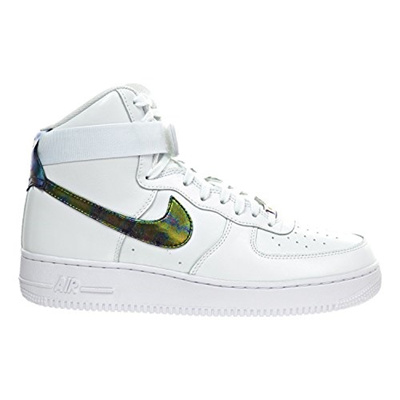 qoo10 nike nike air force di alto lv8 mens scarpe bianche / metallico.