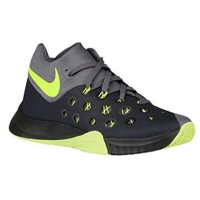NIKE Nike Zoom Hyperquickness 2015 Men Basketball Shoes New Grey Black Volt