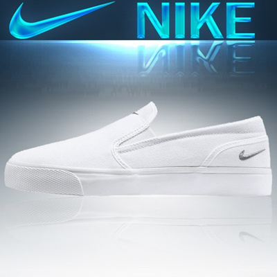 3d881a932fb3 NIKE WMNS TOKI SLIP CANVAS 724770-100 woman man shoes sneakers running slip -on