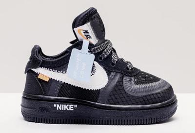 b8658074f Nike x Off White Air Force 1 Black Kids (Code  BV0853-100)