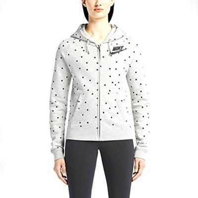 3ed40d3c6c9b Qoo10 - Nike Womens Rally Full-Zip Allover Print Hoodie Grey Black    Sportswear