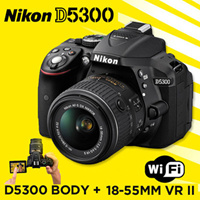 Nikon DSLR D5300 BODY 18-55mm VR II camera nikon DSLR Image