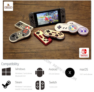 Nintendo8BITDO Gamepad Controller for NINTENDO SWITCH | ANDROID | MacOS | PC
