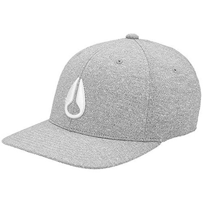 new products 7a67c 25ffc Qoo10 - Nixon Deep Down Flex Fit Hat Athletic Textured Heather Grey  White  S M   Men s Bags   Shoes