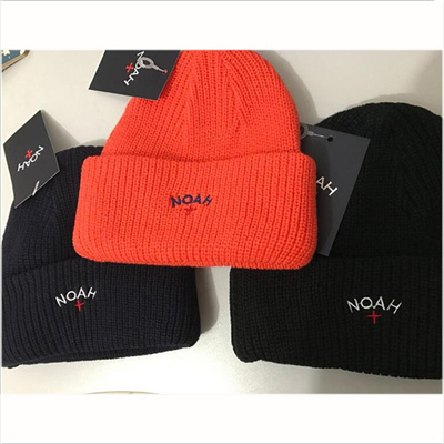NOAH Fashion Brand Winter Caps Men Solid Knitted Cap Mens Cold Hat Hip hop  Streetwear Black b28d7ae56ab