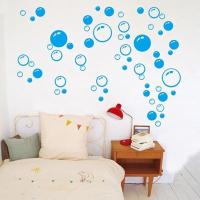 Noir / rose chaud / bleu Bulle Autocollant mural Papier peint d coration  murale d coration salle de