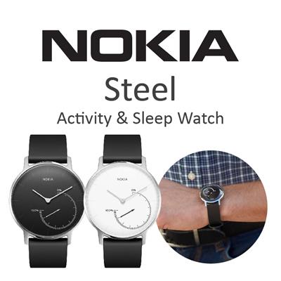 NOKIA HEALTH Nokia Steel Activity Tracking Watch Black White