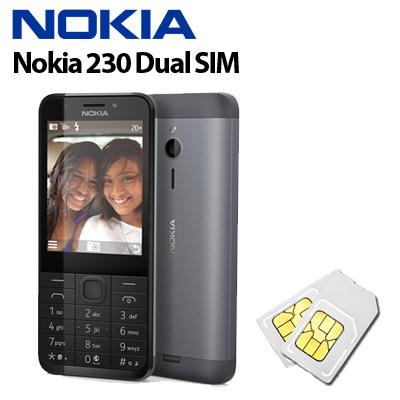 [NOKIA] Nokia 230 Dual SIM / 16MB RAM storage microSD card slot / 16MB