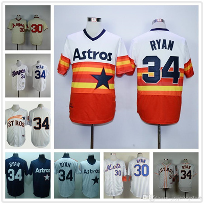 reputable site 9e90f 31ea2 Nolan Ryan Jersey Throwback Houston Astros Rainbow Los Angeles Angels New  York Mets Texas Rangers