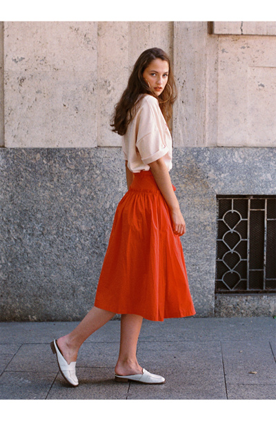 9a5baed773 Qoo10 - [NOMINATE] RED WRAP SKIRT : Women's Fashion