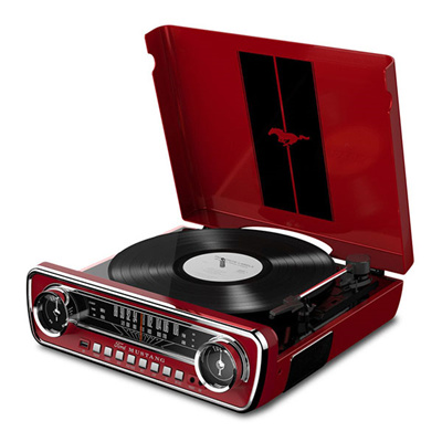 noneION Mustang LP Player 4 in 1 Classic Car-Styled Music Center / Stereo  speakers / radio / USB