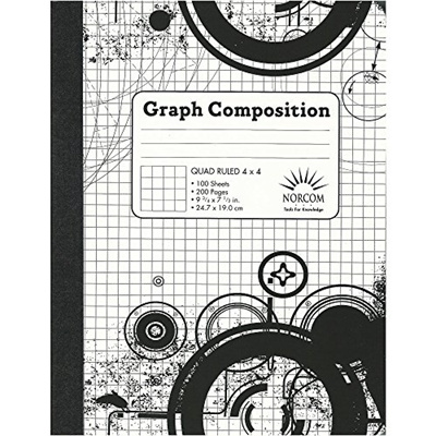 qoo10 norcom black and white patterned graph composition notebook
