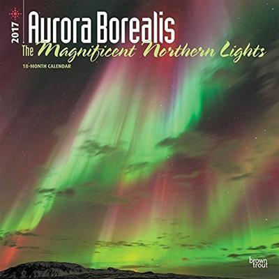 (Northern Lights Calendar) Aurora Borealis Northern Lights Calendar 2017 ~  Deluxe Wall Calendar (