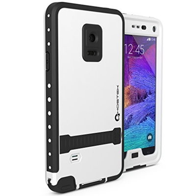 quality design 2e71f b78c3 Note 4 Waterproof Case, Ghostek Atomic White Samsung Galaxy Note 4  Waterproof Case W/ Attached Screen Protector - Lifetime Warranty - Galaxy  Note 4 ...