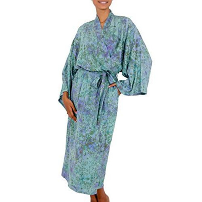 bc093cda6 Qoo10 - (NOVICA)/Women/Sleepwear/DIRECT FROM USA/Batik robe, Misty Javanese  F... : Underwear & Sock.
