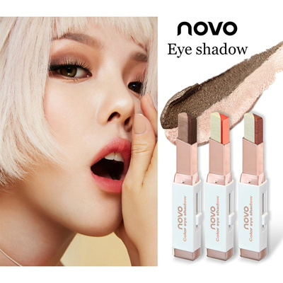 1150c81e11d Qoo10 - Novo Two Tone Eyeshadow Bar Blush on Lip : Cosmetics